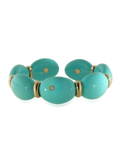 Turquoise enamel bracelet