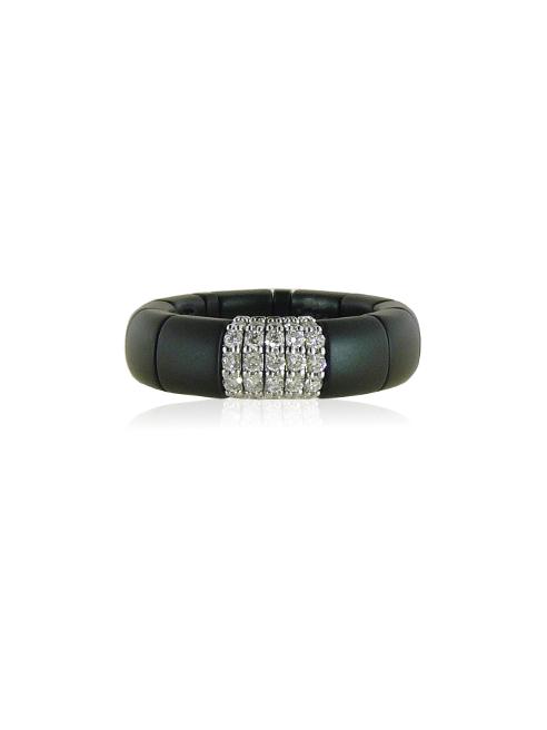 Ceramic and Diamonds Ring