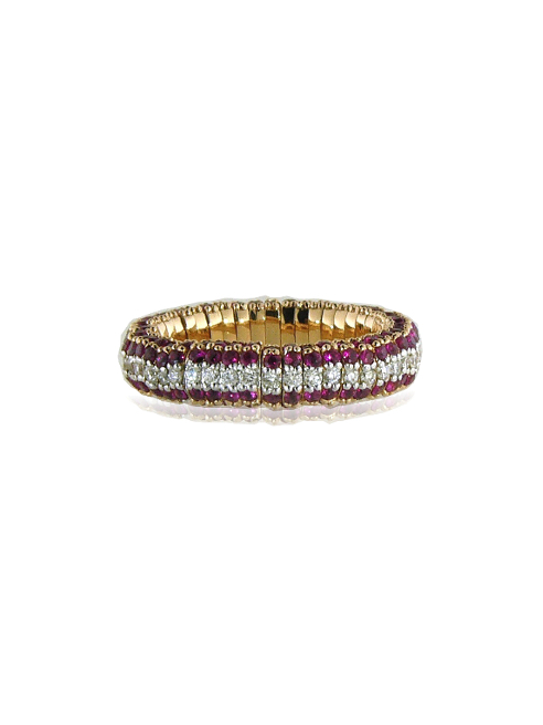 Rubies and diamonds cashmere ring